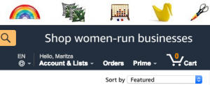 Screenshot of Amazon website menu showing someone logged in